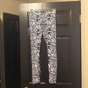 American Apparel High Waisted Zebra Leggings-M